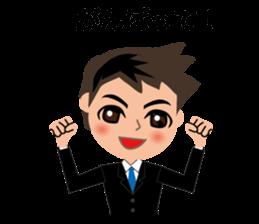 Businessman in Japanese sticker #10509028