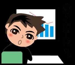 Businessman in Japanese sticker #10509037