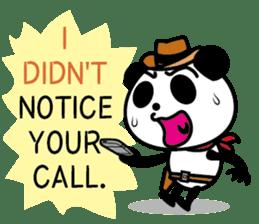 COWBOY PANDA 4 (English ver.) sticker #10518541