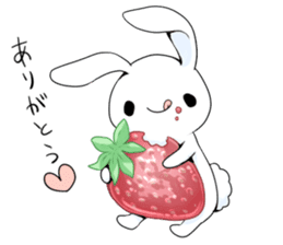 Rabbit with sweets and fruits sticker #10521000