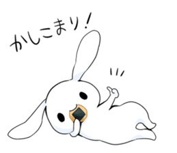 Rabbit with sweets and fruits sticker #10521004