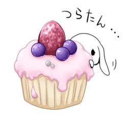 Rabbit with sweets and fruits sticker #10521007