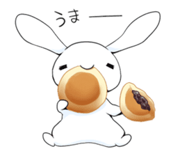 Rabbit with sweets and fruits sticker #10521023
