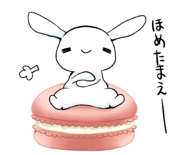 Rabbit with sweets and fruits sticker #10521024