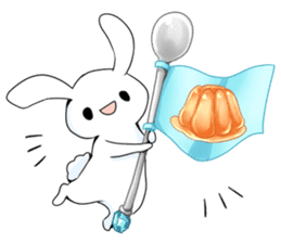 Rabbit with sweets and fruits sticker #10521026