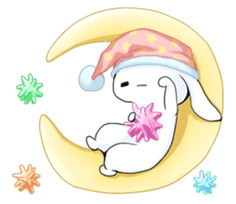 Rabbit with sweets and fruits sticker #10521028