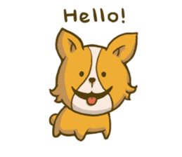 Melon the Corgi Puppy sticker #10521640
