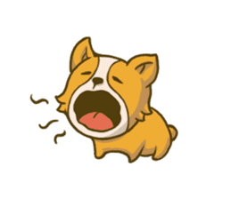 Melon the Corgi Puppy sticker #10521649