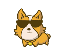 Melon the Corgi Puppy sticker #10521651