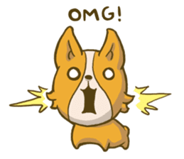 Melon the Corgi Puppy sticker #10521657