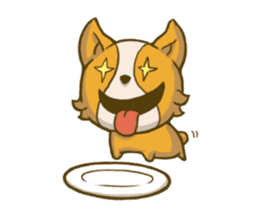Melon the Corgi Puppy sticker #10521658