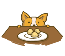 Melon the Corgi Puppy sticker #10521662