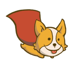 Melon the Corgi Puppy sticker #10521664