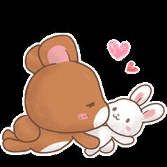 Rabbit & Bear's loves ticker. Bear ver.