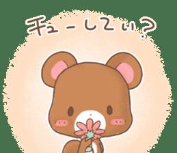 Rabbit & Bear's loves ticker. Bear ver. sticker #10524800