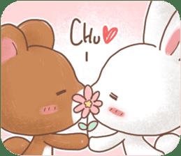 Rabbit & Bear's loves ticker. Bear ver. sticker #10524801