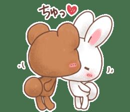 Rabbit & Bear's loves ticker. Bear ver. sticker #10524802