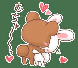 Rabbit & Bear's loves ticker. Bear ver. sticker #10524803