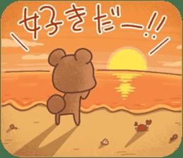 Rabbit & Bear's loves ticker. Bear ver. sticker #10524806