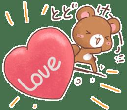 Rabbit & Bear's loves ticker. Bear ver. sticker #10524808