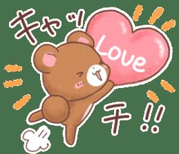 Rabbit & Bear's loves ticker. Bear ver. sticker #10524809