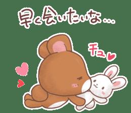 Rabbit & Bear's loves ticker. Bear ver. sticker #10524810
