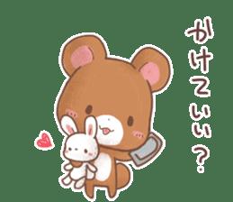 Rabbit & Bear's loves ticker. Bear ver. sticker #10524811