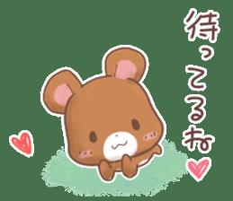 Rabbit & Bear's loves ticker. Bear ver. sticker #10524813