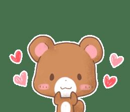 Rabbit & Bear's loves ticker. Bear ver. sticker #10524816
