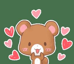 Rabbit & Bear's loves ticker. Bear ver. sticker #10524817