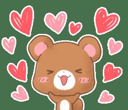 Rabbit & Bear's loves ticker. Bear ver. sticker #10524818
