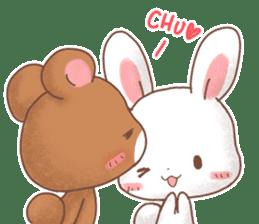 Rabbit & Bear's loves ticker. Bear ver. sticker #10524819
