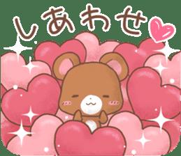 Rabbit & Bear's loves ticker. Bear ver. sticker #10524821