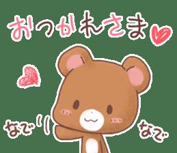 Rabbit & Bear's loves ticker. Bear ver. sticker #10524824