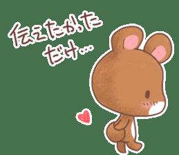 Rabbit & Bear's loves ticker. Bear ver. sticker #10524827