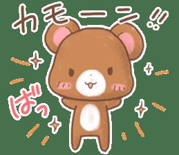 Rabbit & Bear's loves ticker. Bear ver. sticker #10524830