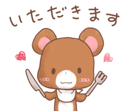 Rabbit & Bear's loves ticker. Bear ver. sticker #10524831