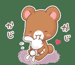 Rabbit & Bear's loves ticker. Bear ver. sticker #10524832