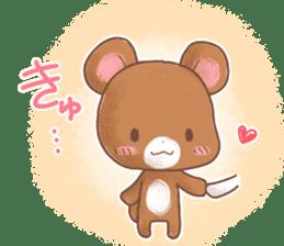Rabbit & Bear's loves ticker. Bear ver. sticker #10524836