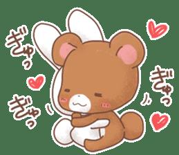 Rabbit & Bear's loves ticker. Bear ver. sticker #10524837