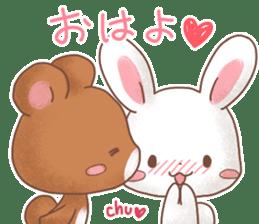 Rabbit & Bear's loves ticker. Bear ver. sticker #10524838