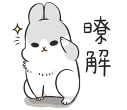 Machiko rabbit 3 sticker #10525119