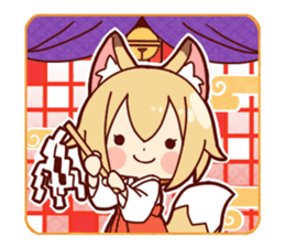 Miko-san of fox sticker #10525723