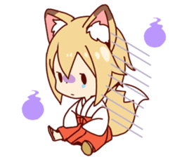 Miko-san of fox sticker #10525730