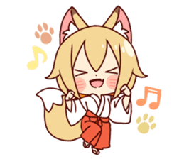 Miko-san of fox sticker #10525734