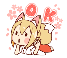 Miko-san of fox sticker #10525738