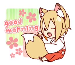 Miko-san of fox sticker #10525741