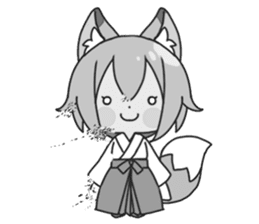 Miko-san of fox sticker #10525744