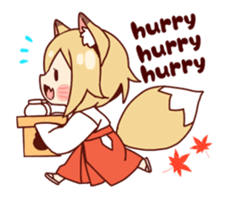 Miko-san of fox sticker #10525749