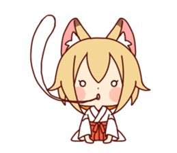 Miko-san of fox sticker #10525752
